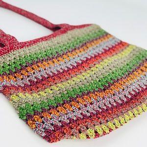 The SAK multi colored Crocheted Shoulder Bag